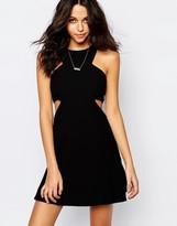 BA&SH Andrea Cut Out Mini Dress in Black