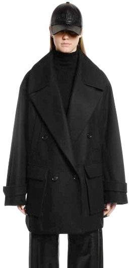 new season purchase genuine cheap price OVERSIZED WOOL & CASHMERE PEACOAT
