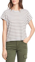 Vince Striped Boxy Crew Neck Tee