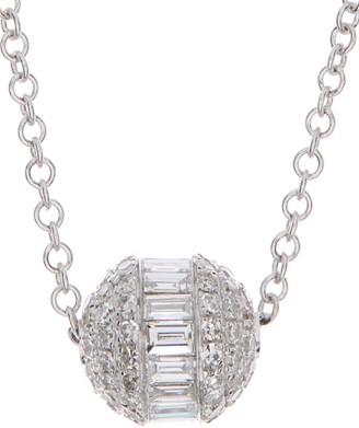 Ron Hami 14K White Gold Baguette Diamond Pendant Necklace - 0.48 ctw