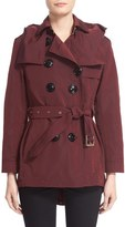 Burberry 'Knightsdale' Belted Drop Tail Hooded Trench Coat