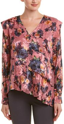 Nicole Miller Artelier Silk-Blend Top