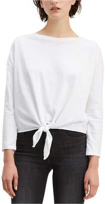 Levi's Tie-Front Long-Sleeve Cotton T-Shirt