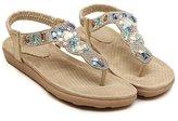 Katypeny Womens Flat Flip Flop Summer Slipper Sandal Shoes With Shine Rhinestones 7.5 US M