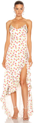 Caroline Constas Ruffle Slip Gown in Cherry | FWRD