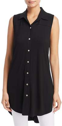 Kim & Cami Button-Front Tunic Top