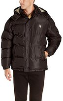 U.S. Polo Assn. Men's Classic Short Puffer Jacket with Pony Logo