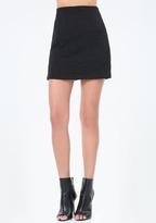 Bebe Textured Knit Miniskirt