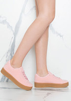 Missy Empire Alura Pink Creepers Shoes