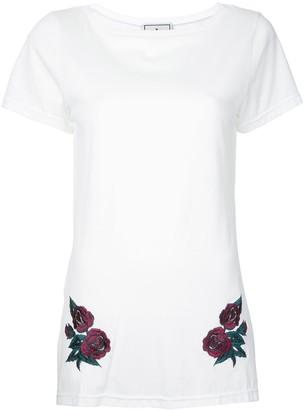 Maison Mihara Yasuhiro flower embroidered long T-shirt