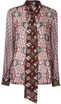 Roberto Cavalli kaleidoscopic print blouse