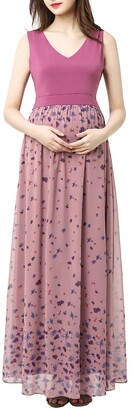Kimi and Kai Armanda Maternity Maxi Dress