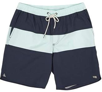 Salty Crew Beacons Elastic Boardshorts (Navy) Men's Swimwear