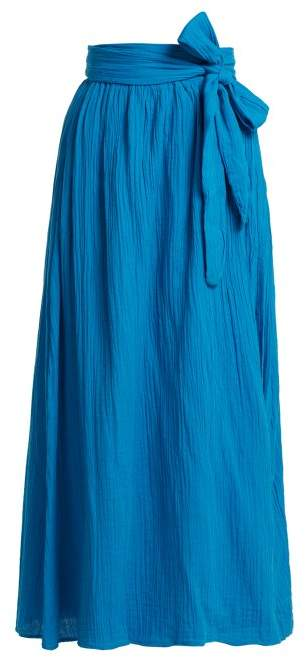 Mara Hoffman Katrine Organic Cotton Wrap Skirt - Womens - Blue