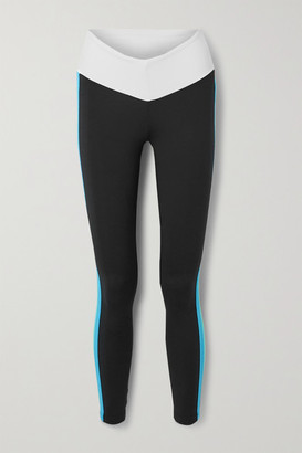 STAUD + New Balance Striped Stretch Leggings - Black