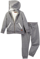 7 For All Mankind Fleece Set with Tee (Toddler Boys)