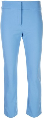 Veronica Beard Slim Fit Cropped Trousers