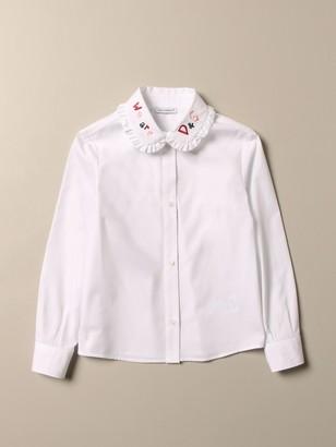 Dolce & Gabbana Dolce Gabbana Shirt With Logoed Collar