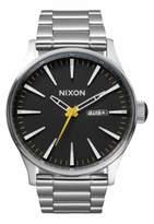 Nixon 'The Sentry' Black Dial Bracelet Watch, 42Mm