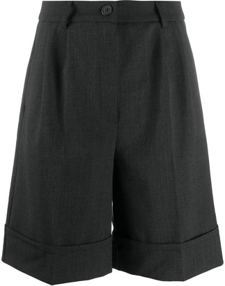 Semi-Couture High-Waisted Tailored Shorts