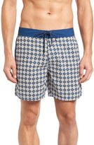 Mr.Swim Men's Star Tile Print Board Shorts