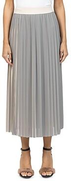 Peserico Plisse Long Skirt