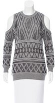 Rebecca Minkoff Crew Neck Cutout-Accented Sweater