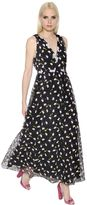 Giamba Floral Embroidered Tulle Dress