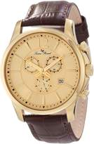 Lucien Piccard Men's 11567-YG-010 Adamello Chronograph Textured Dial Brown Leather Watch
