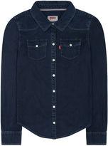 Haddad Long Sleeve Button-Front Shirt Girls