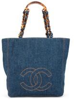 Chanel Pre Owned 1998 CC stitch denim tote