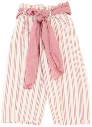 Opililai Striped Cotton & Linen Blend Pants
