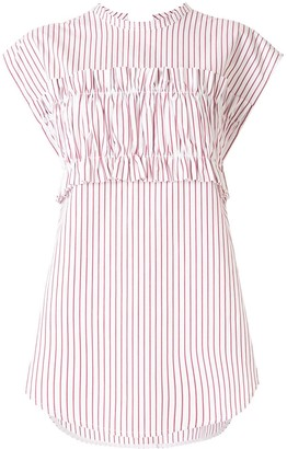 Lee Mathews Sunny Stripe tie back T-shirt