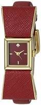 Kate Spade Women's 1YRU0902 Kenmare Gold-Tone Stainless Steel Watch with Red Leather Band