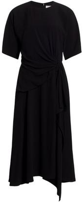 Carolina Herrera Side Draped Midi Dress
