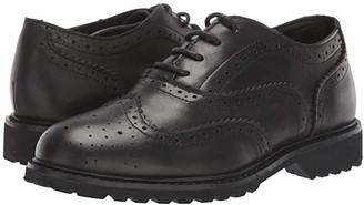 Kenneth Cole Reaction Wing Brogue Leather (Little Kid/Big Kid) (Black) Boy's Shoes