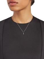 Effy 14K White Gold, Blue Diamond & White Diamond Palm Tree Pendant Necklace