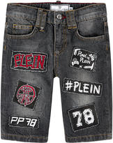 Philipp Plein Jean bermudas with patches