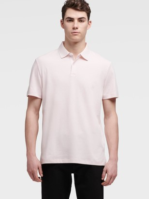 DKNY Men's Polo With Collar Trim - Primrose - Size XS
