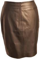 Muu Baa Muubaa Black Leather Skirt for Women