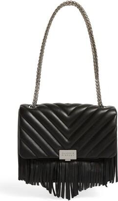 Claudie Pierlot Fringed Leather Angela Shoulder Bag