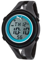 Puma Unisex PU911171001 Air III Black Digital Display Quartz Black Watch