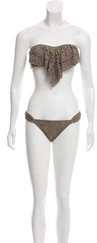 Pilyq 2-Piece Laser Cut Swimsuit w/ Tags