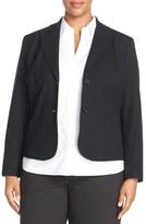 Lafayette 148 New York 'Gladstone' Stretch Wool Jacket (Plus Size) (Nordstrom Exclusive)