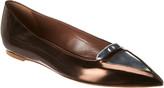Tabitha Simmons Alexa Metallic Leather Flat