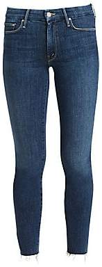 Mother Women's Looker Ankle-Fray Skinny Jeans