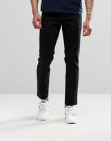 Asos Stretch Slim Jeans In 12.5oz In True Black