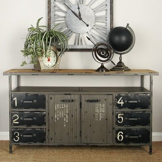 Cole & Grey Metal and Wood Sideboard Cole & Grey