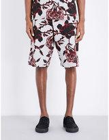 Mcq Alexander Mcqueen Floral-print Cotton-jersey Shorts