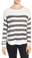 Women's Caslon Texture Stripe Cotton Sweater